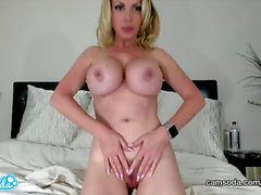CamSoda - Nikki Benz Sexy MILF Masturbates and displays off her immense boobies