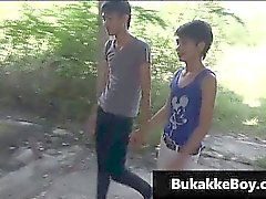 Gay asians in threesome porn video