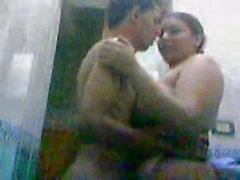 Indian bbw aunty fucking with younger boy in bathroom