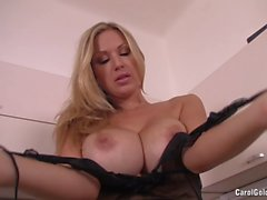 Carol Goldnerova strips in the kitchen
