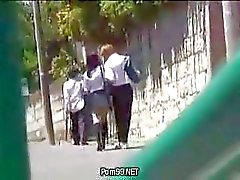 Schoolgirl In The City that put on a Uniform Part 1 hot asian (Japanese) teens