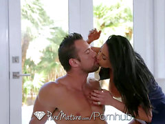 PureMature Golf instructor smash with chesty mature Audrey Bitoni