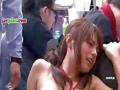 Gangbanging is the true spirit of Japan - watch a sex party take place in an office