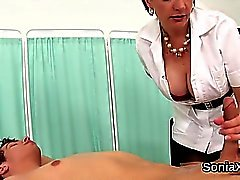 Unfaithful uk mature lady sonia shows her massive tits