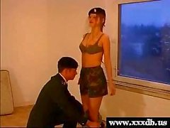 sexy young hot army girl gives blowjob and gets fucked
