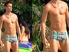 Josh Duhamel in trunks
