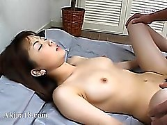 Japanese fag licking super hairy cunt