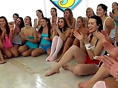Nubiles casting blonde threesome 40 gals came over to party