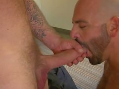 Adam Russo deepthroating Rocco Steele's big meat